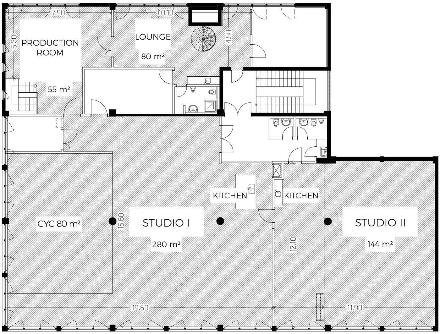 floor plan - raw studios.
