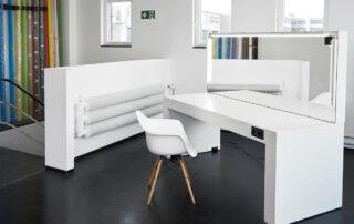 PRODUCTION ROOM - raw studios. hair makeup table