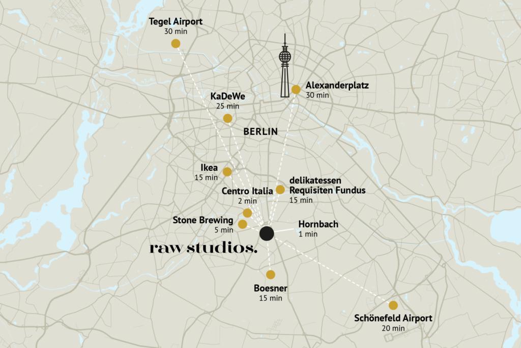 raw studios. - Map
