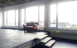 daylight studio with antique sofa