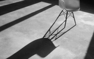 white eams chair