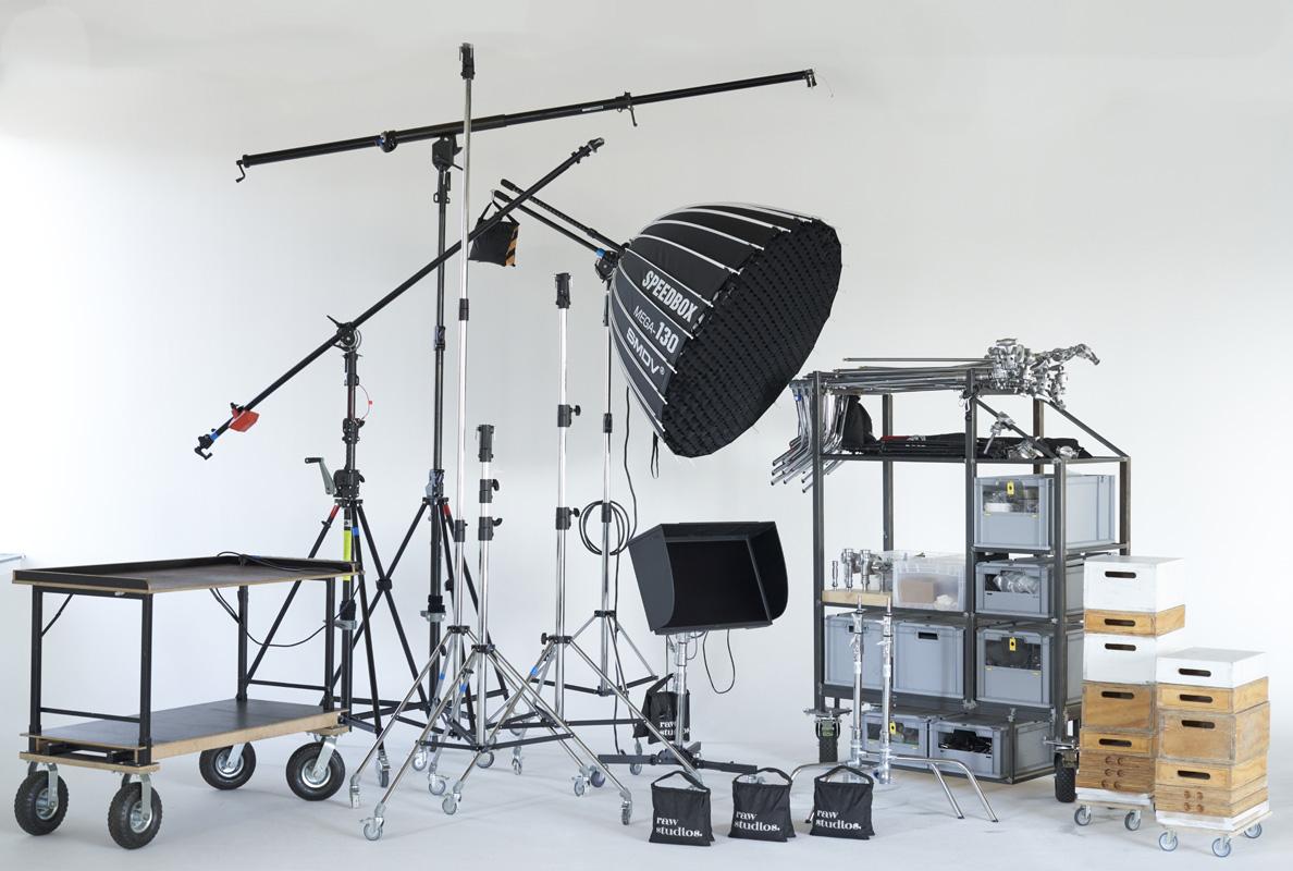 rental equipment at raw studios