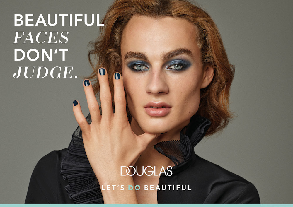 Transgender model for Douglas' brand campaign Let's Do Beautiful , produced at raw studios. Berlin